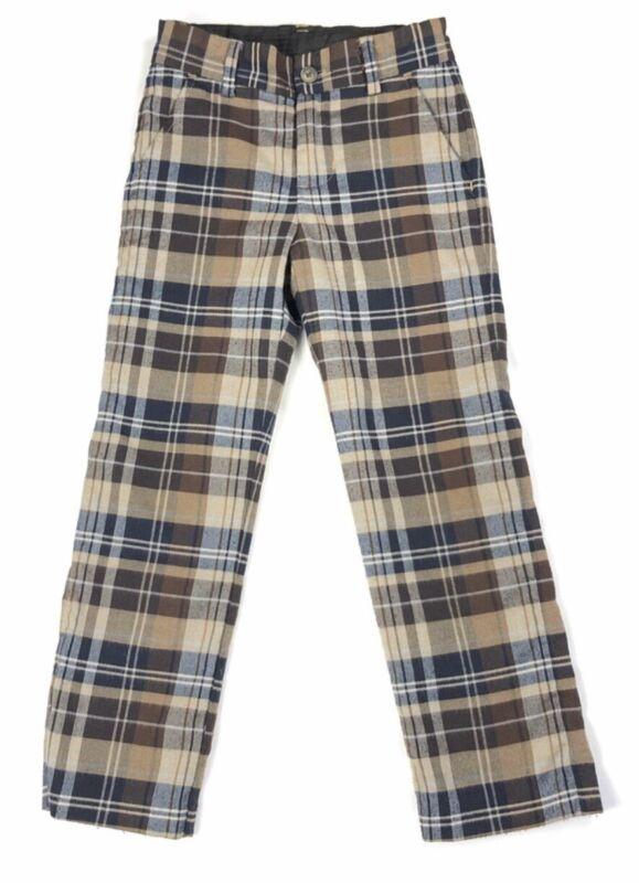 Janie And Jack Tan Brown &Navy Plaid Pants 18-24 M NWT Retail $59 Price $32