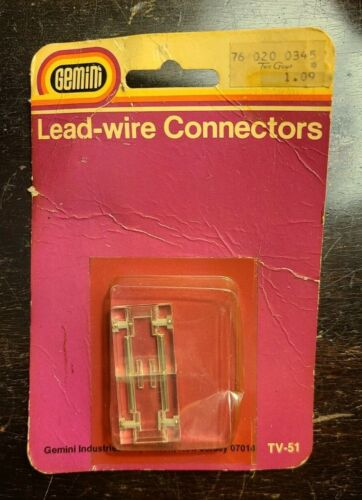 Vintage 1970s Gemini Lead Wire Connector New Old Stock TV-51 Made in Japan