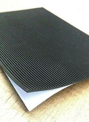 Rubber Sheet 18thk X 8 X 8 Sq Pad V Rib Corrugated X Peel-back Adhesive