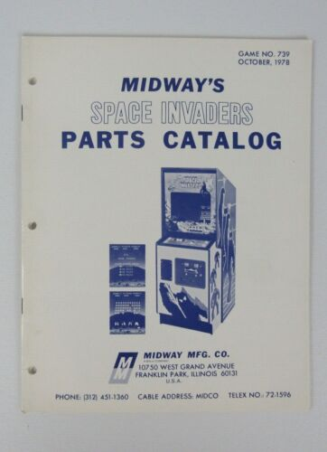 Midway Space Invaders Arcade Game Parts Catalog