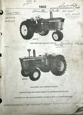 John Deere 4020 Parts Catalog Pc859