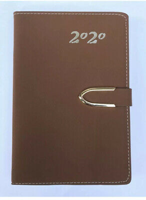 2020 Daily Planner Journal Calendar Organizer Tabbed Wclosure Brown 5x8