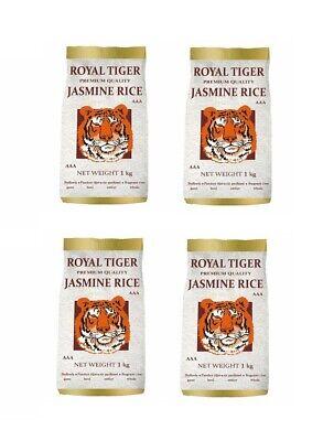 Jazmín Viererpack: 4 X 1kg Royal Tiger Langkorn Aromático Jazmín Arroz