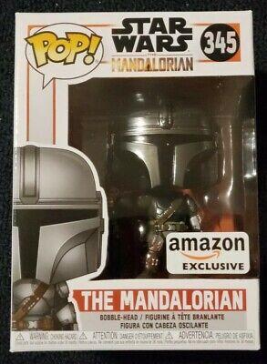 Funko Pop! Star Wars The Mandalorian Amazon Exclusive Chrome #345