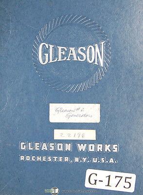 Gleason G2h-os-1 Generator Operators Sequence Manual 1947