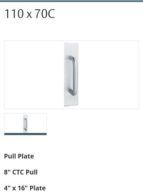 Assa Abloy Rockwood Brushed Stainless Steel 110 X 70c Pull Plate New