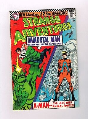 STRANGE ADVENTURES #190 Silver Age DC! 1st ANIMAL MAN in costume! Grade 5.0 - Animal Man Costume