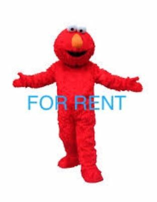 RENT ELMO (RED MONSTER) Mascot Costume Adult  Halloween character party event - Rent Halloween Mascot Costumes