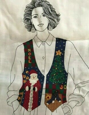 Ladies or kids CHRISTMAS Vest Fabric Panel  Sizes XS-L make it yourself easy ()
