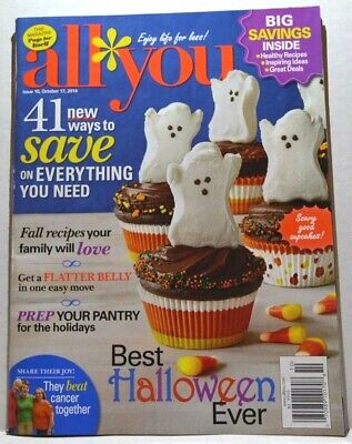 Best Halloween Recipes Ever (All You Magazine - October 17, 2014 - Best Halloween Ever, Fall Recipes and)