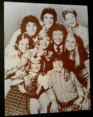 11x14 Sepia Photo~ THE BRADY BUNCH~Florence Henderson~Robert Reed~Barry Williams