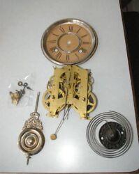 Antique Ansonia Clock Movement,  Face, Chime unit, pendulum, hands