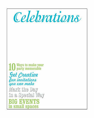 CELEBRATIONS MAGAZINE COVER Transparency Sheet PARTY (Magazine Cover Transparency)