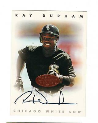 Ray Durham AUTOGRAPH Chicago White Sox 1996 Leaf Signature Series AUTO (Ray White Baseball)