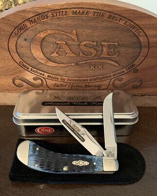 2005 SADDLEHORN CASE XX Collectors Club Knife SS NIB TB62110 Tony Bose