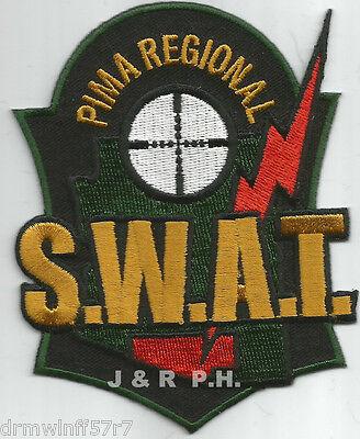 """Pima Regional - S.W.A.T., AZ (3.5"""" X 4.5"""" size)   shoulder police patch (fire)"""