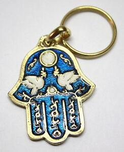 Doves-of-Peace-Hamsa-Lucky-Charm-Evil-Eye-Key-Ring-Chain-Travelers-Prayer
