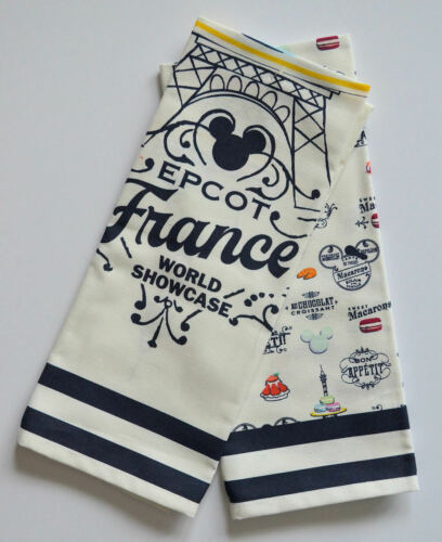 Disney Parks Epcot World Showcase France Kitchen Dish Towel Set New