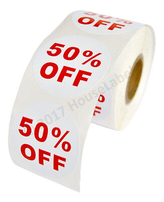 6 Rolls Of 50 Off Discount Labels 500 Labelsroll 2.5 Diameter Bpa Free