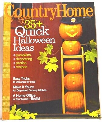 Country Home Magazine - October 2008 - Quick Halloween Ideas, Home Office - Office Halloween Ideas