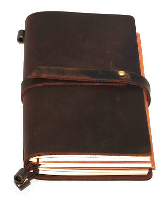 1x Leather Notebook Journal Handmade Vintage Leather Travel Diary Notepad