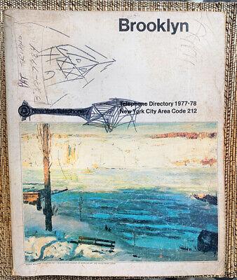 1977 Brooklyn New York City Telephone Directory Book