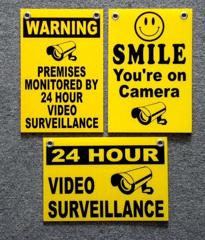 (3)  24 HOUR VIDEO SURVEILLANCE SMILE YOU