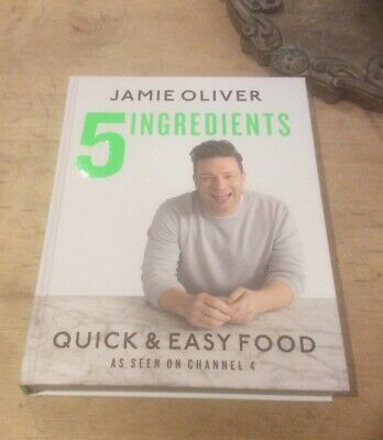 Brand New 5 Ingredients By Jamie Oliver Quick & Easy Recipes! Rrp £26.00