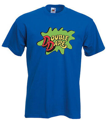 BLUE Double Dare Logo Nickelodeon Costume T-shirt  S-5XL - Double Dare Costume