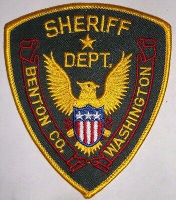 Benton County Washington Sheriff's Department Police Patch Sew On Eagle Flag NEW