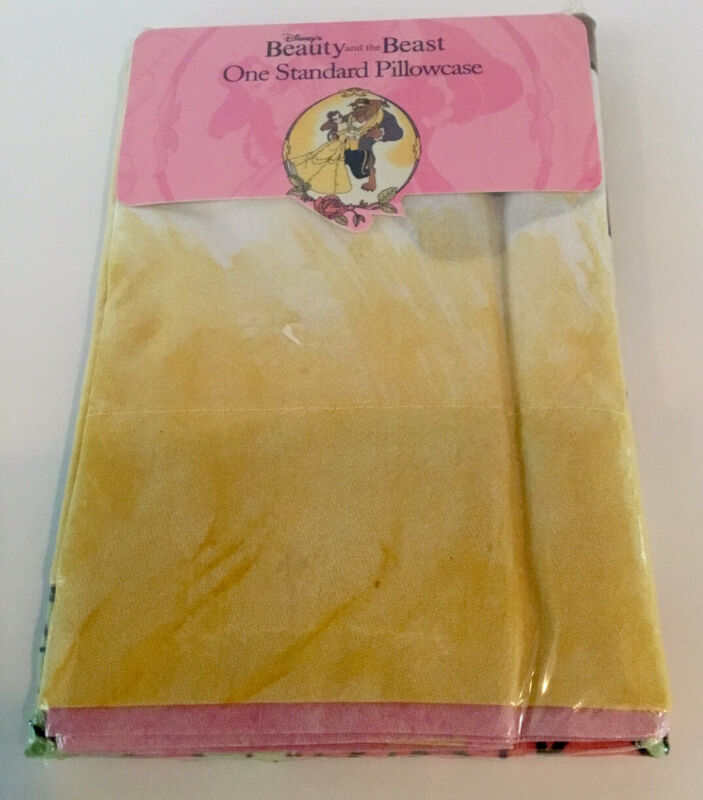 Disney Beauty & the Beast Pillowcase Standard New in Package Vintage