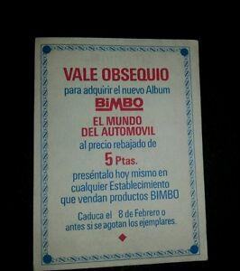 Cromo-vale-obsequio-BIMBO-del-mundo-del-automovil