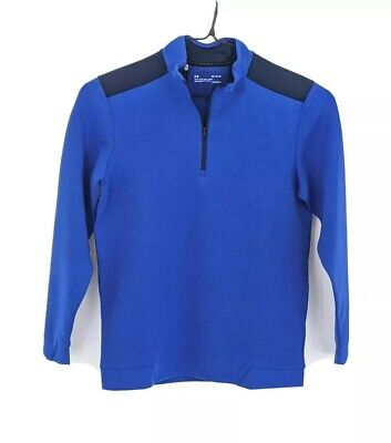 Under Armour Golf Cold Gear Half Zip Mens Medium Loose Fit Royal Blue