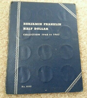 FRANKLIN HALF DOLLAR 1948 1964 COMPLETE 35 SILVER COIN SET,CIRCULATED P,S,D