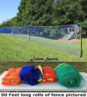 Outfield Fence 4' x 50' Baseball Softball Also Basketball Volleyball Wiffleball