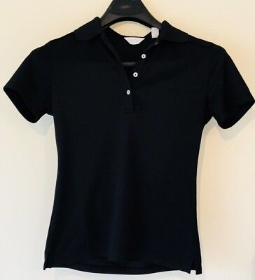 Callaway Opti-Dri Women's Golf Polo S/S Shirt Black Size Small Tennis Rugby Breathable Rug By Shirt