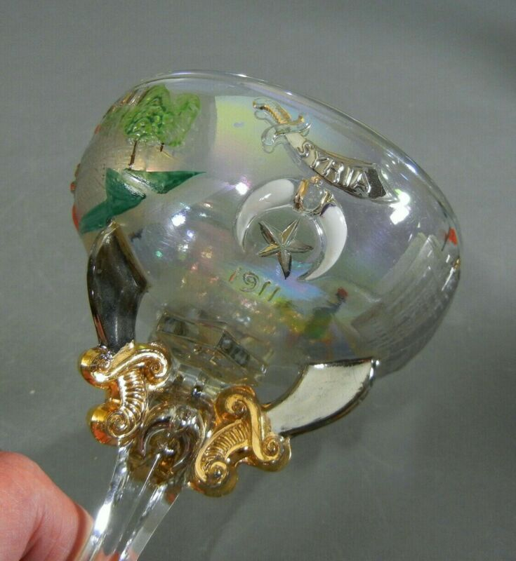 1911 Rochester Shriners Convention Champagne Glass