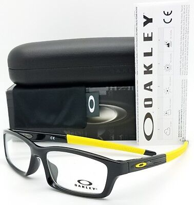 NEW Oakley Crosslink Youth RX Prescription frame Black Yellow OX8111-0653 53mm