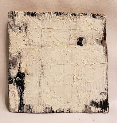 Original Abstract Minimal Recycled Painting On Reclaimed Wood By K.A.Davis