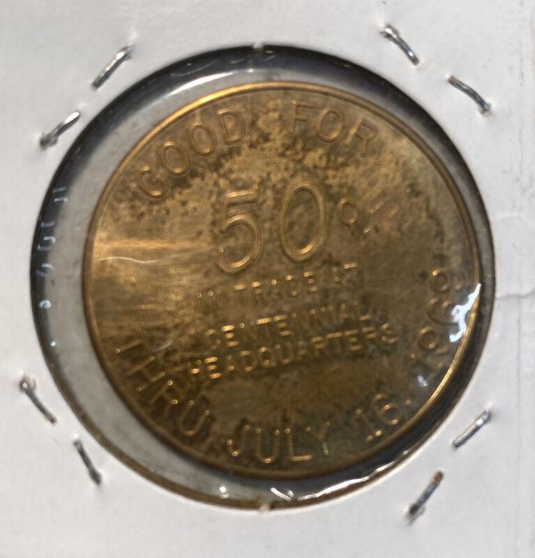 Iowa Centennial Token - Mt Carmel 1869-1969 GF 50¢ In Trade At Headq