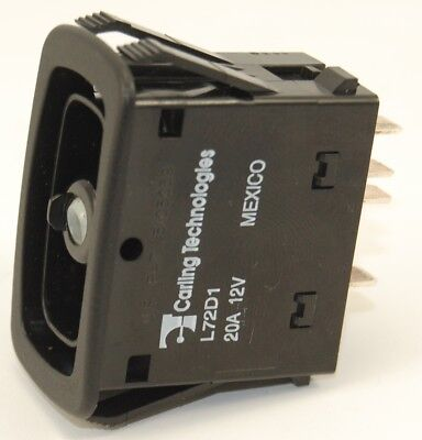 Rocker Switch Carling Tech L72d1hhh1 Double Pole Progressive On - Off - On