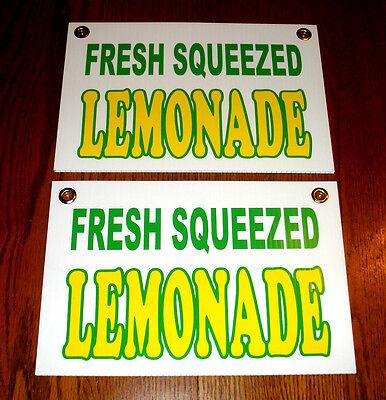 2 Fresh Squeezed LEMONADE Coroplast SIGNS New! 8