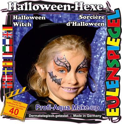 et Halloween-Hexe, Schmink-Set mit Schminkanleitung 1 Pinsel (Halloween Make-up Anleitung)