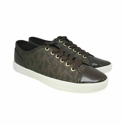 Michael Kors City Sneakers Brown MK Logo Lace Up Shoes Choose Size 8