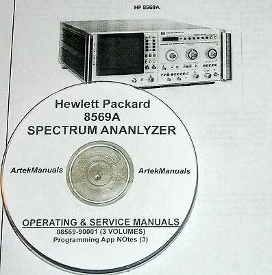Hewlett Packard 3vol Ops Service Manual 3 App Notes 8569a Spectrum Analyzer