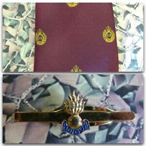 Royal-Engineers-Grenade-Crest-Maroon-Tie-Tie-Bar-Set-RE