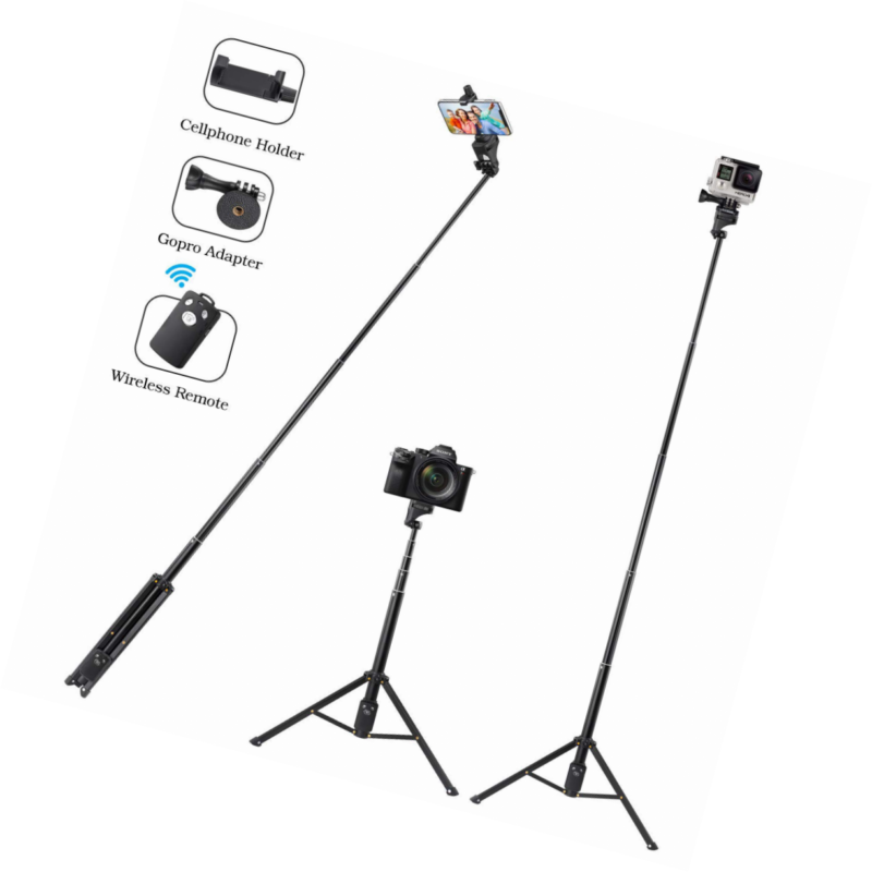 selfie stick tripod 54 inch aluminum extendable