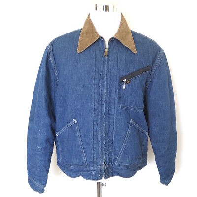 Used, VINTAGE ORIGINAL LEE DENIM JACKET CORDUROY COLLAR 1960s SIZE LARGE MADE IN USA  for sale  Shipping to India