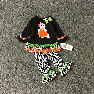 Kid Christmas Set Toddler Lovley Gost and Pumpkin Halloween Costume 0-24M](Toddler Pumpkin Halloween Costume)