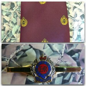 Royal-Engineers-Queens-Crown-Crest-Maroon-Tie-Tie-Bar-Set-RE